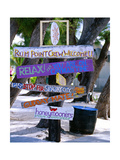 Fun Signpost at Run Point  Cayman Islands