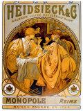Heidsieck Giclée par Alphonse Mucha