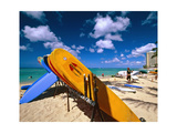 Bright Colored Surfboards on Waikiki Beach