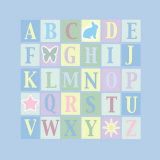 Alphabet on Blue