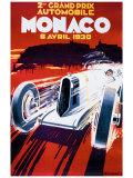 Grand Prix de Monaco, 1930 Giclée par Robert Falcucci