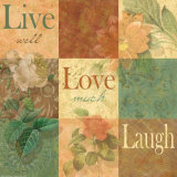 Shabby Chic Nine Patch: Live Laugh Love