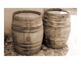 Two Wine Barrels