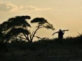 Masai Man  Amboseli Wildlife Reserve  Kenya