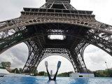 Scuba Diving under the Eiffel Tower  Paris  France