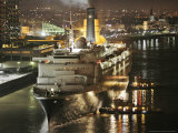 The Queen Elizabeth II Prepares to Dock at the Port of New Orleans  Mississippi River  c2006