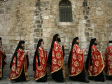 Greek Orthodox Bishops at Easter Mass  Jerusalem  Israel