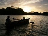 Two Children Sail in the Cocibolca Lake  Managua  Nicaragua