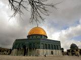 Golden Dome of the Rock Mosque inside Al Aqsa Mosque  Jerusalem  Israel