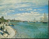 Regatta at Ste-Adresse Tableau sur toile par Claude Monet