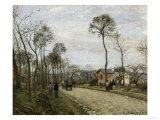 The Road of Louveciennes  c1870