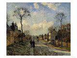 Road in Louveciennes  c1872