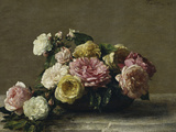 Roses in a Bowl  c1882