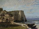 Cliffs at Etretat after a Storm  c1870