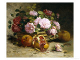 Still Life of Roses and Pomegranates