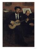 Lorenzo Pagans and Auguste Degas  c1871