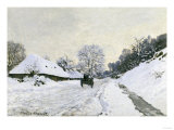 Route in the Snow near Honfleur  c1867