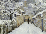 Snow in Louveciennes  c1878