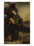 The Thracian Girl Carrying the Head of Orpheus  c1865
