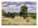 Grain Harvest in Montfoucault  c1876