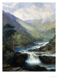 Romantic Landscape with Waterfall