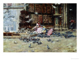 Feeding the Pigeons  St Mark&#39;s Square  Venice