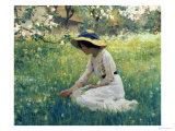 Fleurs du printemps Giclée par Arthur Hacker