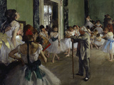 The Dance Class, c.1875 Giclée par Edgar Degas