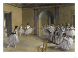 Ballet Room at the Opera in Rue le Peletier  c1872