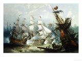 The Battle of Trafalgar  c1875