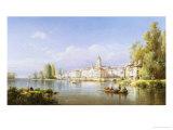 Continental River Scene  c1872