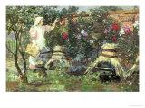 Picking Fruit in a Suffolk Garden