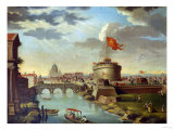St Peter's and the Castel Sant Angelo  Rome