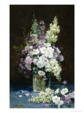 Lilac and Summer Flowers in a Glass Vase