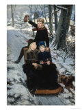 Jolly Sleigh Ride  c1884