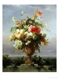 Elegant Vase of Flowers on a Ledge