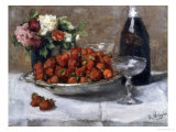 Still Life with Champagne and Strawberries