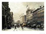 New York  Winter Scene in Broadway  c1857