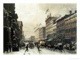 New York  Winter Scene in Broadway  c1857