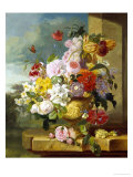 Rich Still Life of Flowers in a Vase