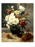 Still Life of Peonies and Wallflowers