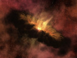 Young Star Surrounded by a Dusty Protoplanetary Disk
