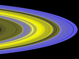 False-Color Image of Saturn&#39;s Main Rings Made Using Cassini&#39;s Ultraviolet Imaging Spectrograph