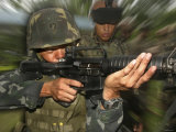 Philippine Marine Takes Aim During a Dry Fire  October 18  2007