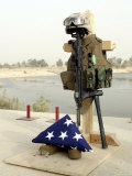 Fallen Soldier's Gear  Camp Baharia  Iraq  June 12  2007
