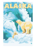 Alaska Polar Bears on Iceberg
