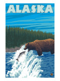 Alaska Bear Fishing for Salmon