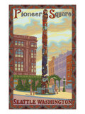Pioneer Square Totem Pole  Seattle  Washington
