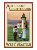 Alki Point Lighthouse  Seattle  Washington