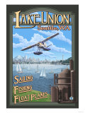 Lake Union Float Plane  Seattle  Washington